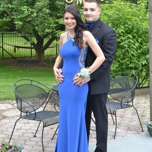 Jovani Dresses & Skirts - Royal blue jersey prom dress