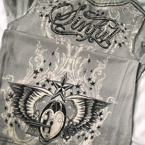 Sinful Tops - SINFULL Embellished Tee from Buckle