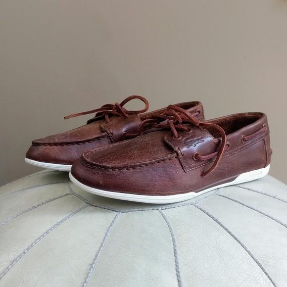 Lacoste Men/'s Dreyfus Boat Shoe