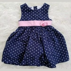 Koala Kids Other - Koala Kids Girls Dress 6-9 Months Blue White Pink