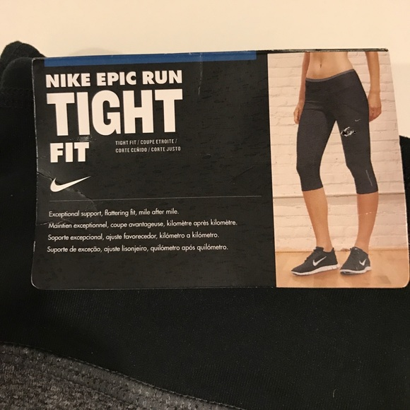 40 off nike pants nike epic run tight fit cropped. Black Bedroom Furniture Sets. Home Design Ideas