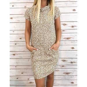 Pendleton Dresses & Skirts - Pendleton leopard print mock neck dress