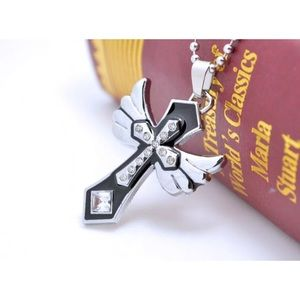 Other - New cross pendant men women necklace stainless