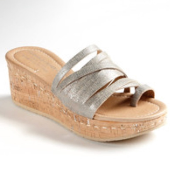 Donald J Pliner Multistrap Wedge Sandals