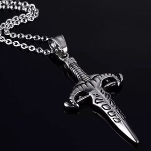 Other - Natural sworddagger knife pendant necklace men