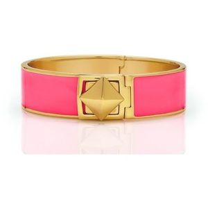 Kate Spade Locked In Hinged Pink Gold Bracelet