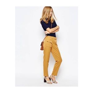 Pants - High Waisted Crop Pant with Flap Pocket, Size M