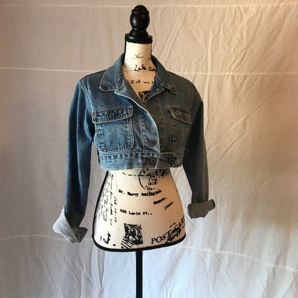 9c8a648fcf7 Levi s Jackets   Blazers - Vintage Levi s Silver Tab Cropped Denim Jacket