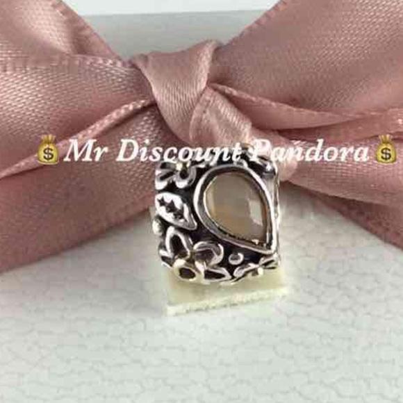 Pandora Moonstone Earrings: Pandora Retired Dew Drop Orange