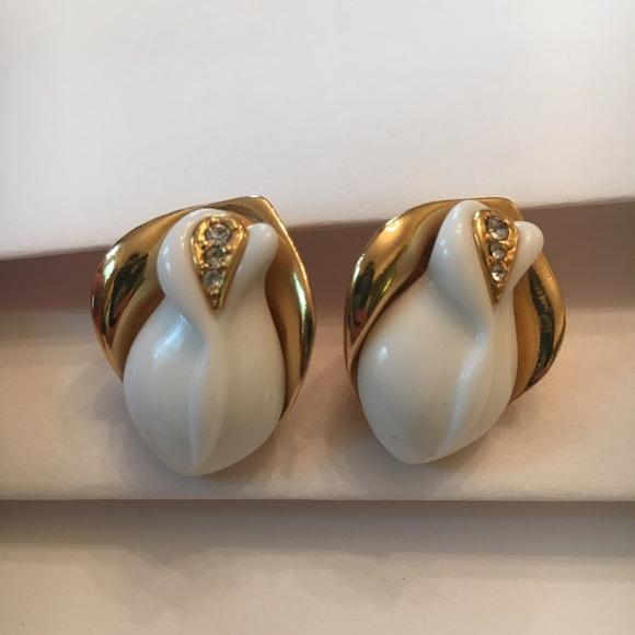 Kenneth Jay Lane Jewelry - 1980's Kenneth Jay Lane for Avon post earrings