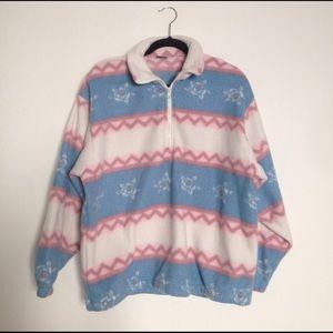 Thrifted Half-Zip Fleece