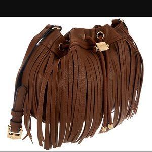 Aimee Kestenberg Handbags - Aimee Kestenberg Pebble Leather Fringe Crossbody