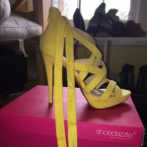 shoedazzle Shoes - Yellow Heels With Box