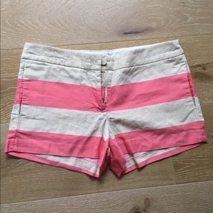 Pants - JCREW pink and cream stripped shorts SIZE 6