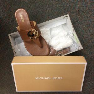 MICHAEL Michael Kors Shoes - NWT Michael Kors Sandals -  Racquel Thong -Luggage