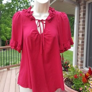 odille  Tops - ☆☆ odille by Anthropologie red top