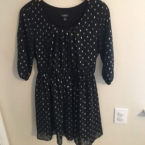a. byer Dresses & Skirts - Black and gold dress