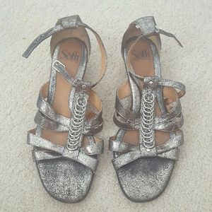 Silver Sofft Sandals