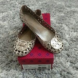 Tory Burch Shoes - Tory Burch Metallic Mira Ballet Flat