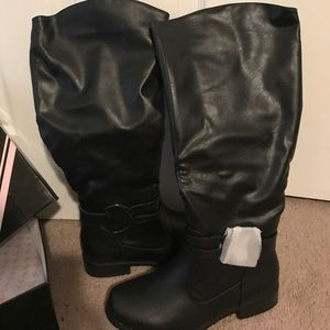 Journee Collection Shoes - Black wide calf boots 9.5. New in box