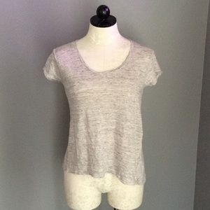 St. Tropez Tops - St. Tropez Gray T-shirt Button Back