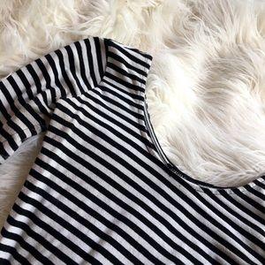 Striped black & white bodysuit