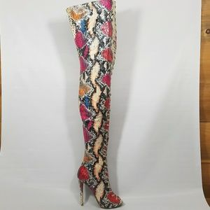 Zigi Soho Shoes - Zigi parry multi snake thigh boot