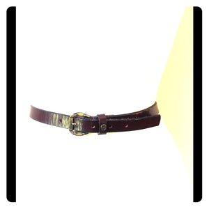 Vintage Etienne Aigner Burgundy Leather Belt