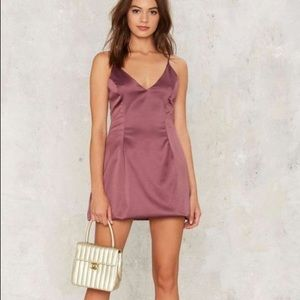Nasty Gal Dresses & Skirts - NWOT Nasty Gal Satin MINI dress