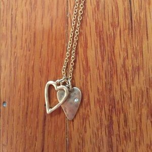 Chloe + Isabel Jewelry - Chloe + Isabel gold double heart necklace