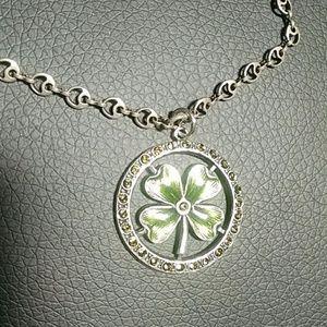Catherine Popesco Jewelry - Silver Shamrock/Clover Necklace
