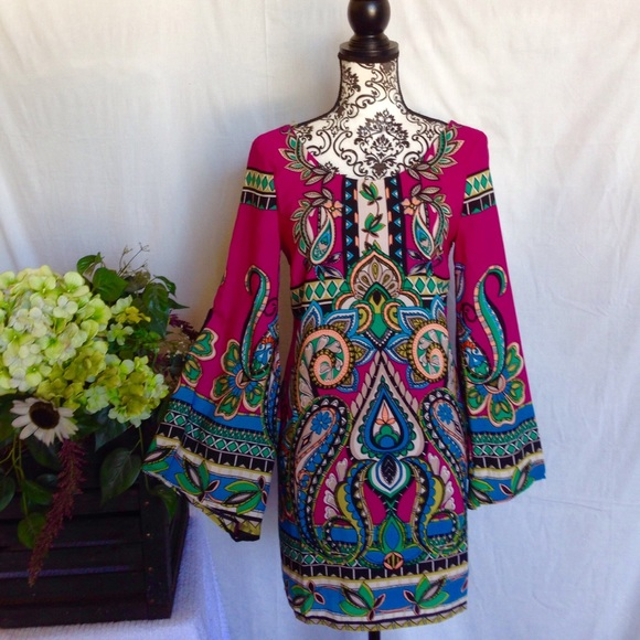 ce857be66a NWT Virgo Boutique Pink Owl Indi Dress