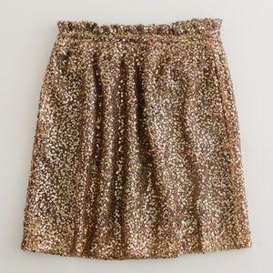 J. Crew Dresses & Skirts - J. Crew Gold Sequin Mesh Bell High Waist Skirt
