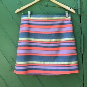 Host Pick!! J. Crew metallic and stripe mini skirt