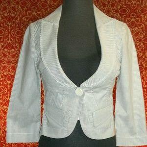 BCBGeneration Jackets & Blazers - BCBGENERATION gray striped cotton blazer 4