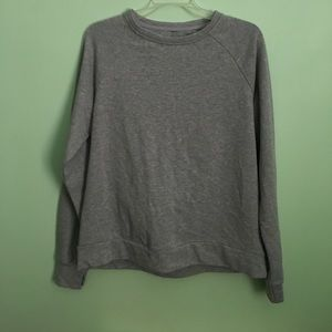 Fabletics Gray Open Back Sweatshirt