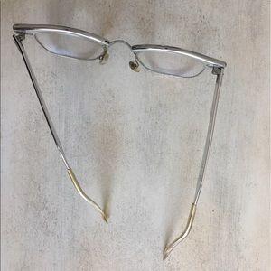 767db6d0451 Accessories - Vintage Clear   Silver Metal Nerd Glasses