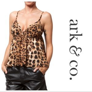 Ark & Co Leopard Print Caged Top