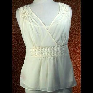 Bandolino Tops - BANDOLINO cream sleeveless blouse & cami 8