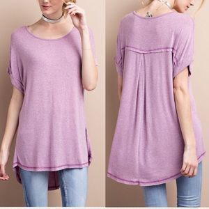 Pink Peplum Boutique Tops - 🆕 ARRIVAL! Basic short sleeve SUPER SOFT tunic