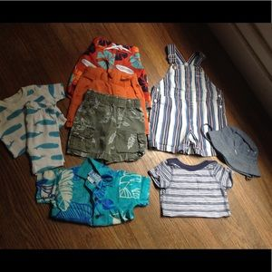assorted Other - Boy Summer Bundle 12-18mo..8 Pieces