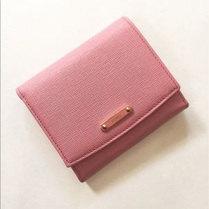 NWT Auth Fendi pink leather wallet