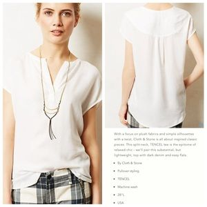Anthropologie CLOTH & STONE Sandstone Pullover Top
