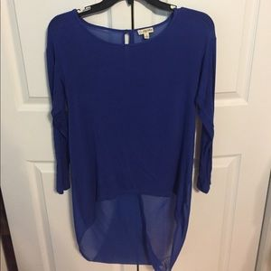 Lilly White Tops - Open Back Blue Top