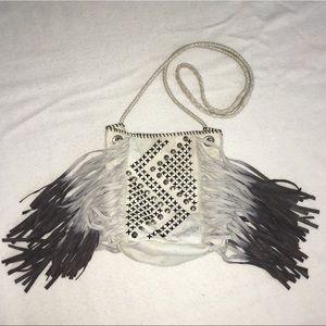 Maje Handbags - Maje Studded Fringe Bucket Bag