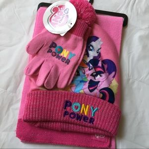 My Little Pony Other - NEW My Little Pony Hat Scarf Gloves Set
