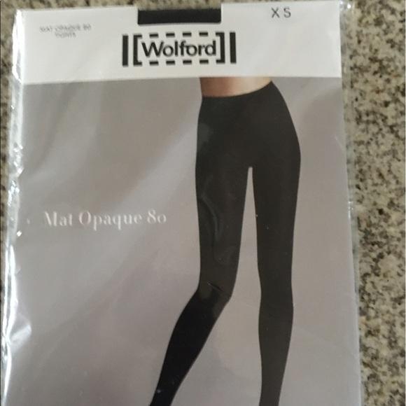 24ac364ce82 Wolford opaque 80 Black tights pantyhose nip XS