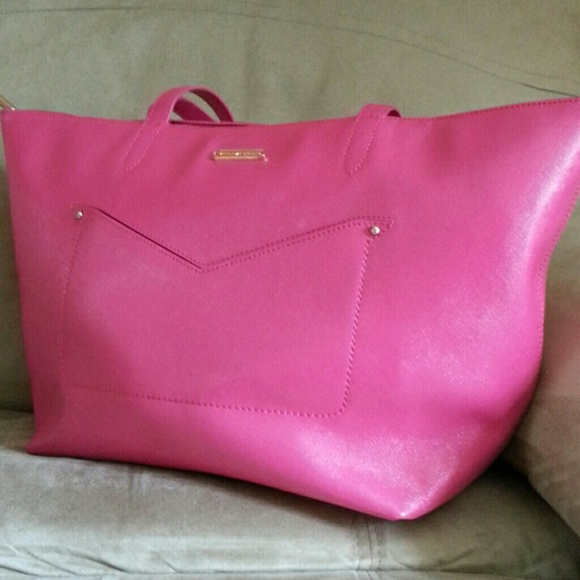 e71be3bed7cf5 Victoria Secret Pink Genuine Leather Tote. NWOT