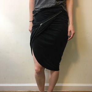 The Kooples Dresses & Skirts - NWT The Kooples Grey Zipper Asymmetrical Skirt