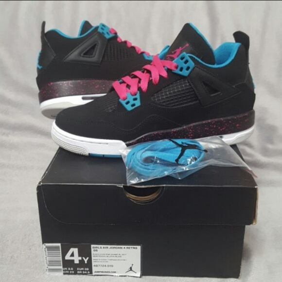 a6ba04a16a4 Jordan Other - Air Jordan 4 GS South Beach Size 4Y or 5.5W